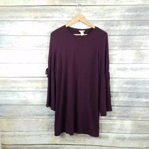Loft Lounge Bell Sleeve Sweater Shift Dress Small